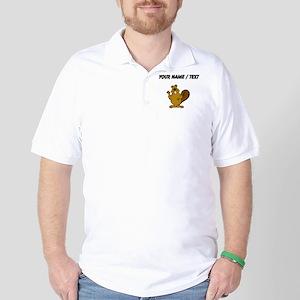 Custom Beaver Waving Golf Shirt