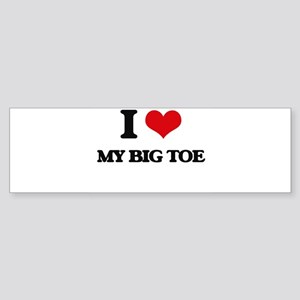 my big toe Bumper Sticker