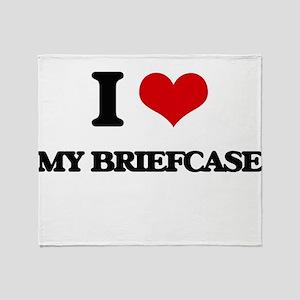 my briefcase Throw Blanket