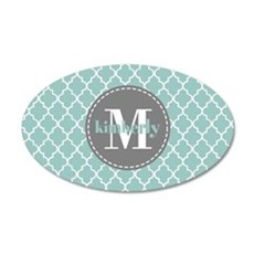 Charcoal and Mint Quatrefoil Wall Decal