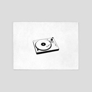 DJ Turntable 5'x7'Area Rug