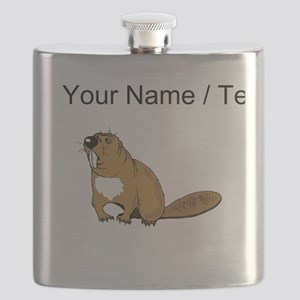 Custom Brown Beaver Flask