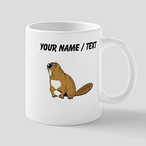 Custom Brown Beaver Mugs