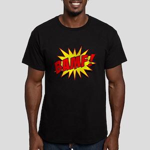 Bamf! Men's Fitted T-Shirt (dark)