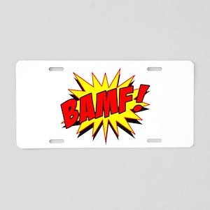 Bamf! Aluminum License Plate