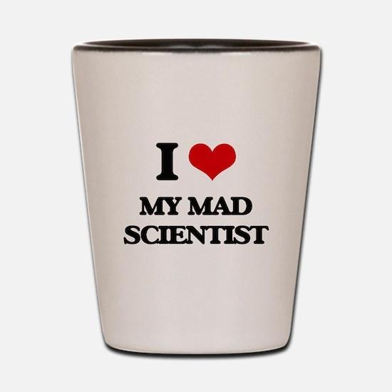 my mad scientist Shot Glass
