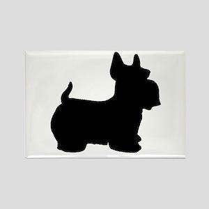 SCOTTY DOG Rectangle Magnet