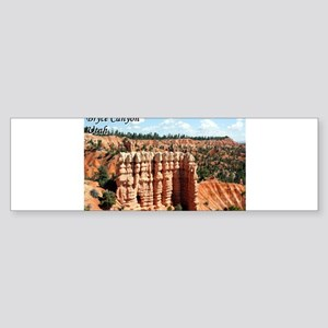 Bryce Canyon, Utah, USA (with capti Bumper Sticker
