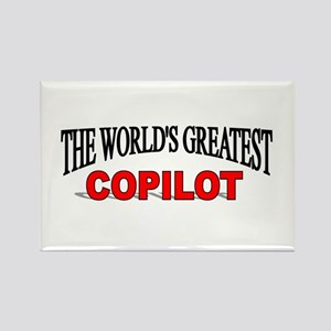 """The World's Greatest Copilot"" Rectangle Magnet"