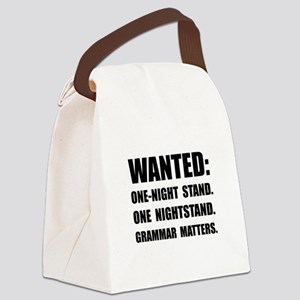 Nightstand Grammar Canvas Lunch Bag