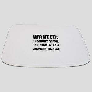 Nightstand Grammar Bathmat