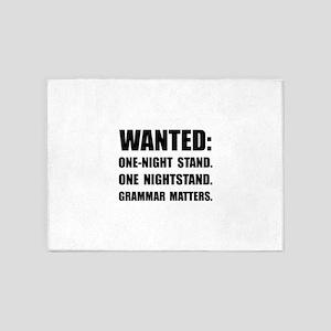 Nightstand Grammar 5'x7'Area Rug