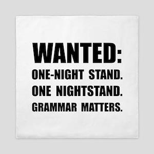 Nightstand Grammar Queen Duvet