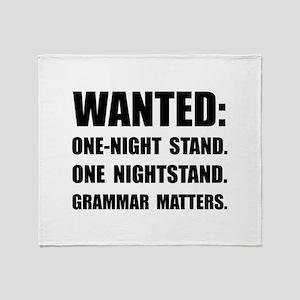 Nightstand Grammar Throw Blanket