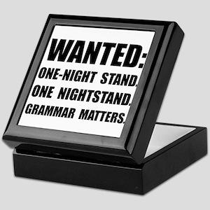 Nightstand Grammar Keepsake Box