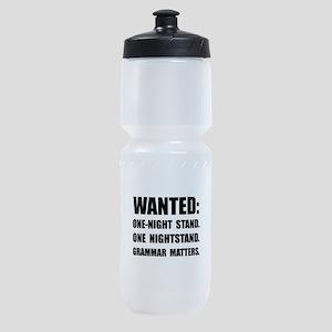 Nightstand Grammar Sports Bottle
