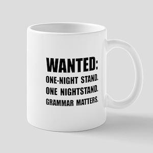 Nightstand Grammar Mugs