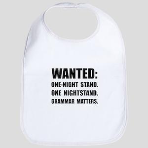 Nightstand Grammar Bib