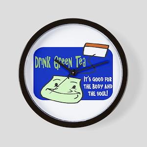 GREEN TEA! Wall Clock