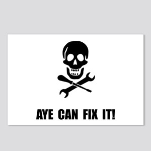 Pirate Fix It Skull Postcards (Package of 8)