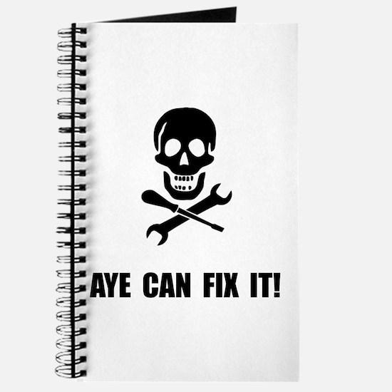 Pirate Fix It Skull Journal