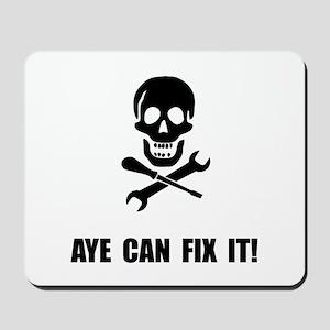 Pirate Fix It Skull Mousepad