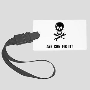 Pirate Fix It Skull Luggage Tag