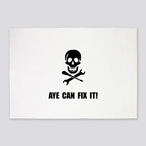 Pirate Fix It Skull 5'x7'Area Rug
