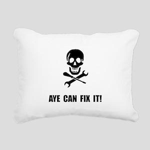 Pirate Fix It Skull Rectangular Canvas Pillow