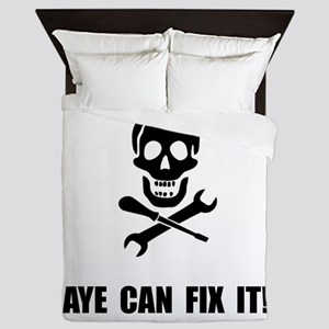 Pirate Fix It Skull Queen Duvet