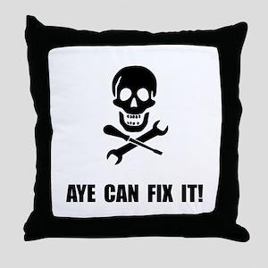 Pirate Fix It Skull Throw Pillow
