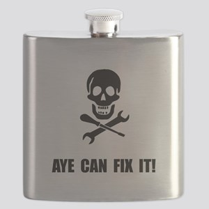 Pirate Fix It Skull Flask