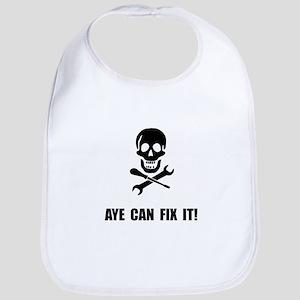 Pirate Fix It Skull Bib
