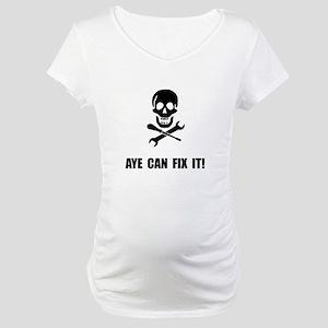 Pirate Fix It Skull Maternity T-Shirt