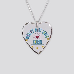 World's Most Loved Cousin Necklace Heart Charm
