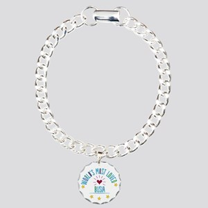 World's Most Loved Busia Charm Bracelet, One Charm