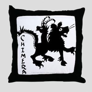 Graphic Black Chimera Throw Pillow