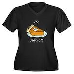 Pie Addict Women's Plus Size V-Neck Dark T-Shirt