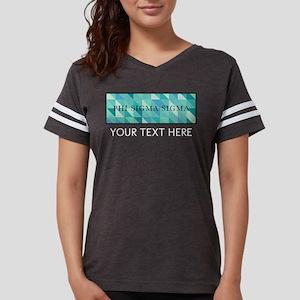 Phi Sigma Sigma Geometric Pe Womens Football Shirt