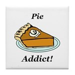 Pie Addict Tile Coaster
