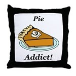 Pie Addict Throw Pillow