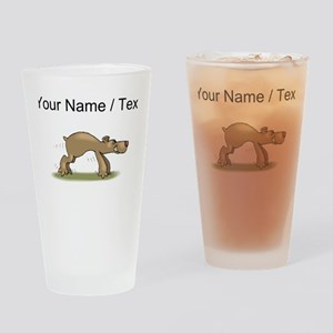 Custom Bear Tiptoeing Drinking Glass