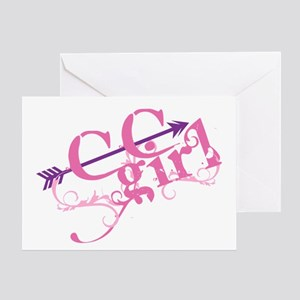 Cross Country Girl Greeting Cards