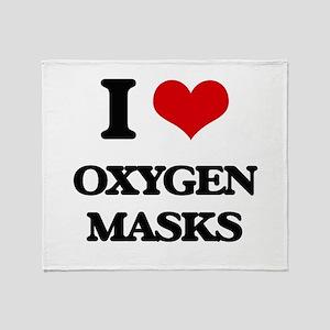 oxygen masks Throw Blanket