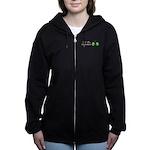 I Love Green Beer Women's Zip Hoodie