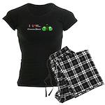 I Love Green Beer Women's Dark Pajamas
