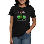 I Love Green Beer Women's Dark T-Shirt