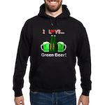 I Love Green Beer Hoodie (dark)
