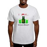 I Love Green Beer Light T-Shirt