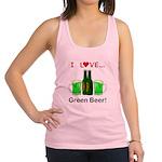 I Love Green Beer Racerback Tank Top